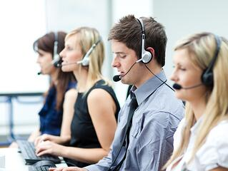 contact center agents in a call center