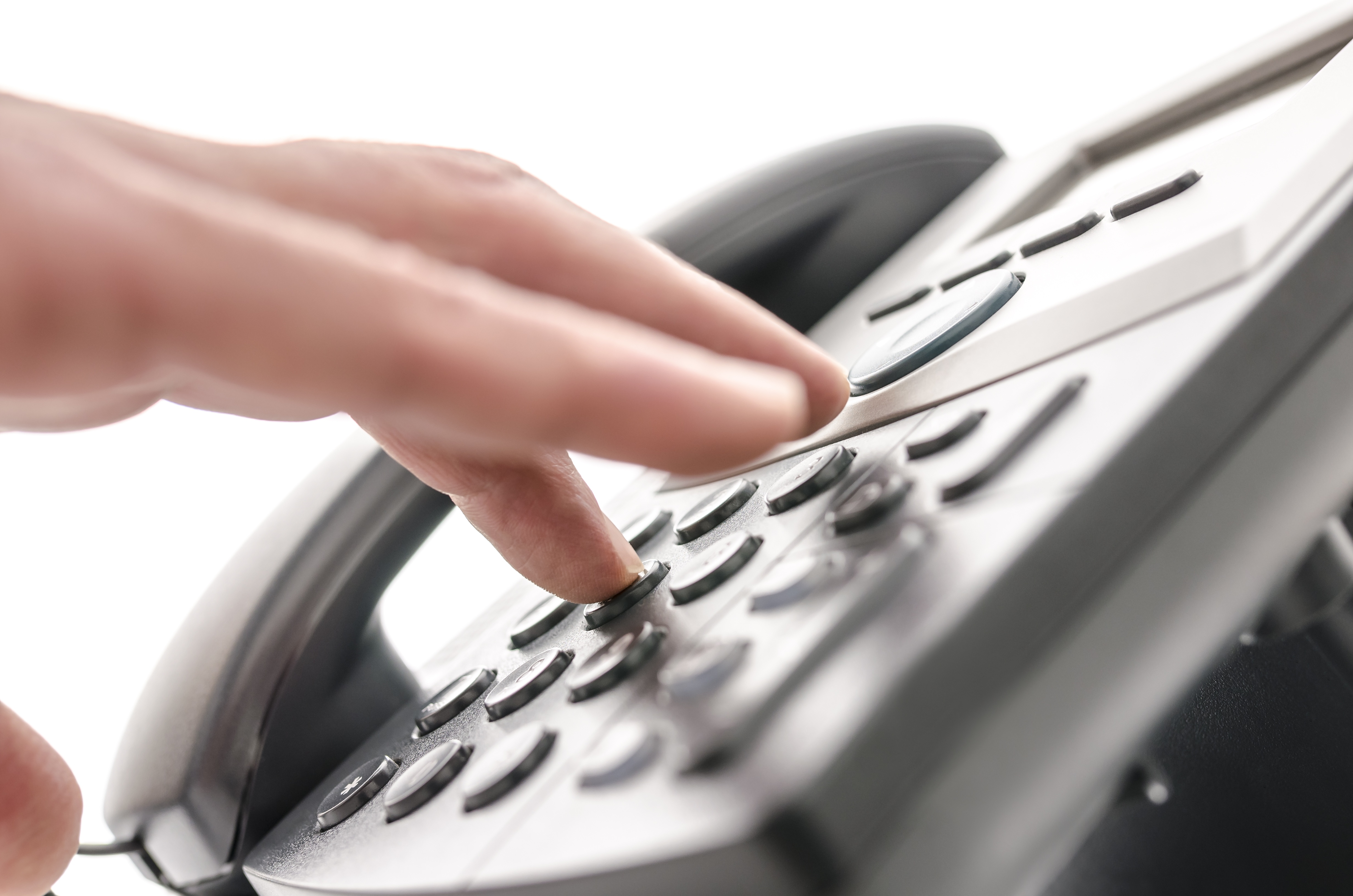 dialing on digital phone, making a phone call